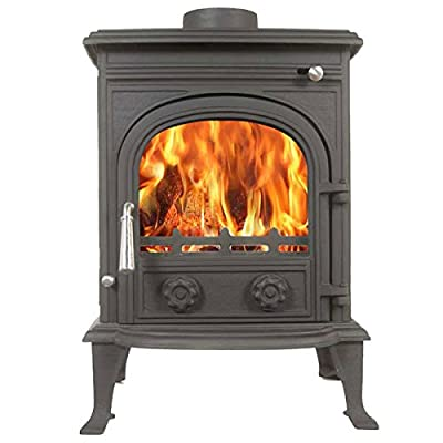 Eiger 8kw Multifuel Wood Burning Stove Tradional Cast Iron Woodburner From Th...