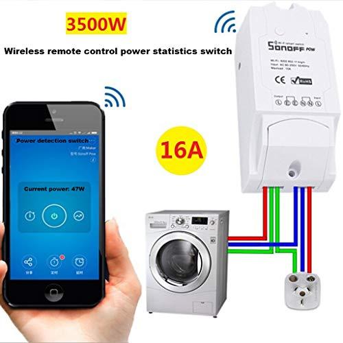 QHJ Digitale Zeitschaltuhr,POW Schalter Smart Home WiFi Wireless Modul Monitor für IOS Android APP (Wie Gezeigt)