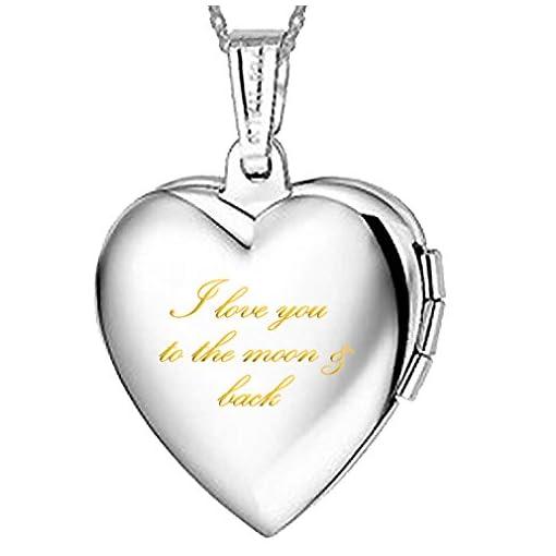 taglia 40 35aef a5fd7 Collana con ciondolo a forma di cuore, in titanio placcato ...