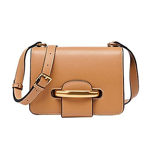 Mena UK Anello di modo dell'annata delle donne squisito piccolo primo strato sintetico della borsa della cartella della spalla del sacchetto di Tote del cuoio ( Colore : Nero , dimensioni : 20cm*15cm* Albicocca