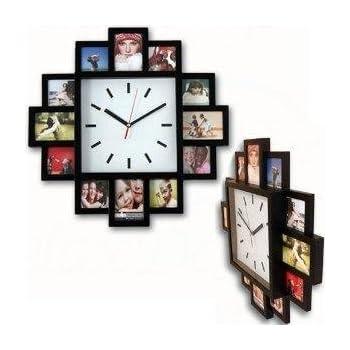 Design Wallclock Photo Family Time Frame Clock Black With 12