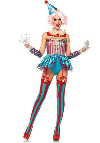Clown Damen Kostüm - LEG AVENUE 85620 Delightful Zirkus Clown Damen Kostüm kurz, Größe L