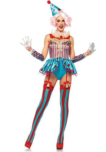 LEG AVENUE 85620 Delightful Zirkus Clown Damen Kostüm kurz, Größe S (Leg Avenue Clown Kostüm)