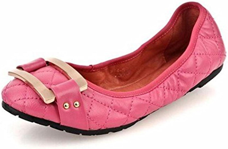 GLTER Donne pieghevoli Ballet scarpe Nuovo cuoio piegante piatto con con con una singoli pattini poco profondi dei pattini... | Diversi stili e stili  | Gentiluomo/Signora Scarpa  e475c3