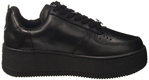 Windsor Smith Racerr Leather, Sneaker a Collo Alto Donna Nero (Leather Black)