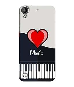 PrintVisa Designer Back Case Cover for HTC Desire 530 (Love Lovely Attitude Men Man Manly)