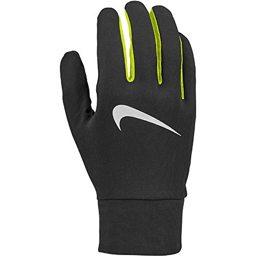 Nike Herren Mens Lightweight Tech Running Gloves 082 Handschuhe, Black/Silver, L