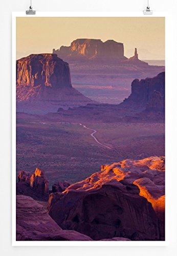 Mesa Wallpaper (Best for home Artprints - Art - Hunt's Mesa Monument Valley USA- Fotodruck in gestochen scharfer Qualität)