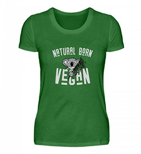 Hochwertiges Damen Organic Shirt - Natural Born Vegan Koala Geschenk Kelly Green