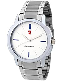SWISS TREND Analogue White Dial Men's Watch -ST-63