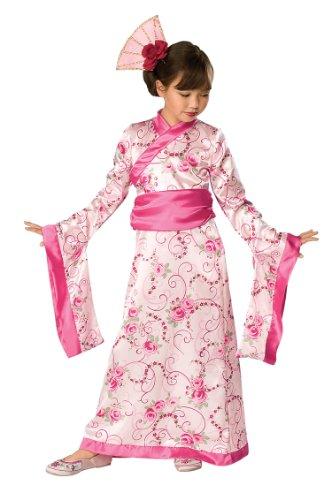 Kinder, die asiatische Prinzessin Kostüm japanische Jasmin Outift 3–4Yrs (Prinzessin Jasmin Kostüm Kind)