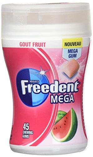 FREEDENT Chewing-Gums Dragées Mega Goût Fruit en Boîte 103 g - Lot de 3