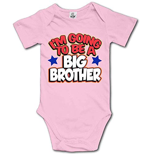 Baby Climbing Clothes Set I'm The Big Brother Bodysuits Romper Short Sleeved Light Onesies,6M