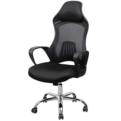 Executive Office Stuhl (VSousT Computer Rotary Lordosenstütze Executive Office Gaming Stuhl Ergonomischer Computertisch Drehstuhl mit hoher Rückenlehne Racing Bürostuhl)