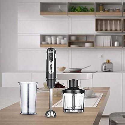 Stabmixer-600W-4-in-1-elektrischer-Stab-mixer-mit-Zubehr-Set-einschlielich-Edelstahl-Mixfu-500ML-Zerkleinerer-600ML-Messbecher-SUS-Klingen-und-Schneebesen-Schwarz