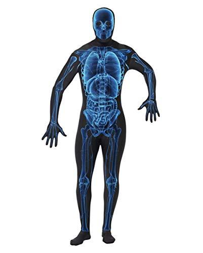 Horror-Shop Second Skin X-Ray Kostüm Overall | Skelett Skinsuit für Halloween | One Size - X Ray Kostüm