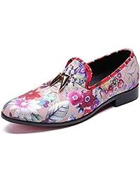 LOVDRAM Zapatos De Cuero para Hombre Mocasines para Hombres Diseñador De Lujo Resbalón En Zapatos Mocasines