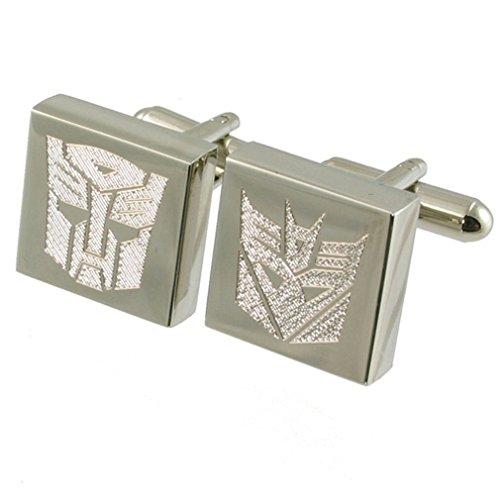 Select Gifts Transformator Autobot Decepticon Roboter Manschettenknöpfe mit Tasche (Transformator-shirts Männer Für)