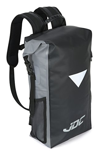 Imagen de jdc  para moto 100% impermeable bolsa resistente al agua 30l negra/gris