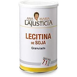 Ana Maria Lajusticia - Lecitina de soja - 500 gramos - no gmo. Reduce el colesterol en sangre y mejora la memoria. Apto para veganos. Envase para 71 días de tratamiento.