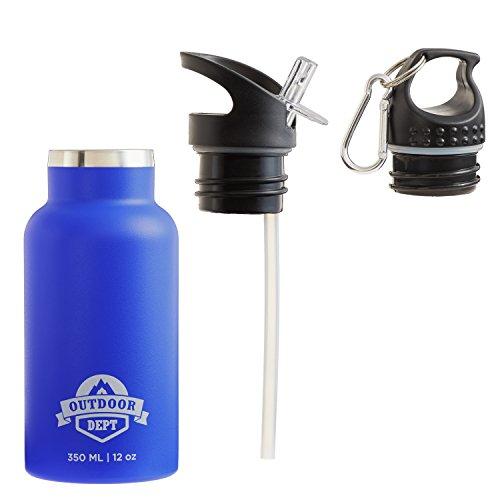 Isolierte Kinder Thermo Trinkflasche 350 ml auslaufsicher Edelstahl BPA-frei für Sport, Freizeit und Schule rosa, blau Isolierflasche auch für Kohlensäure haltige Getränke Kleinkind oder Schulkind (Tee Kleinkind Rosa)