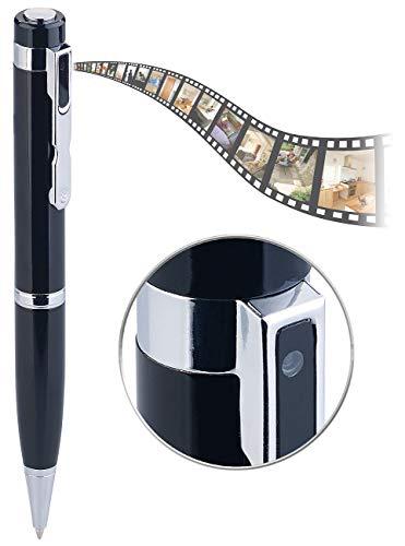 Somikon Kugelschreiber Kamera: Kugelschreiber-Videokamera mit Blauer Mine und Foto-Funktion, Full HD (Kugelschreiber Cam) - Usb Versteckte-kamera-stift