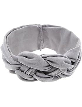 Zhhlinyuan Baby Girl Cute Bows Cross Knot Headband Turban Hairband KT003
