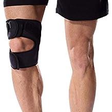 Bonmedico® Genuo, rodillera ajustable para correr, deportes y cualquier entrenamiento físico. Permite la estabilización activa de ligamentos cruzados, meniscos, rótula y mucho más, adecuado para hombres y mujeres, ambilateral, elástico, transpirable y antibacteriano.