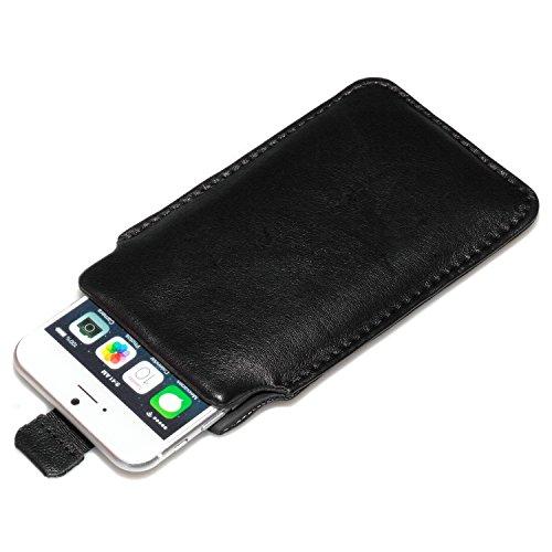 """deinPhone Apple iPhone 6 6S (4.7"""") SILIKON CASE Hülle deinPhone Eule Ledertasche Schwarz"""