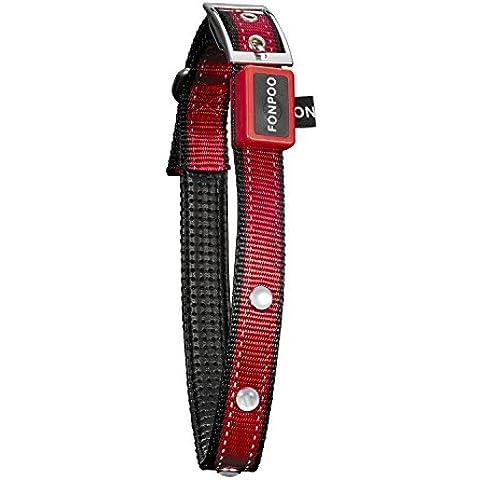 FONPOO FP8000C collar impermeable de seguridad con tiras reflectantes para mascota, perros. Collar con LED Flashing visible en oscuridad