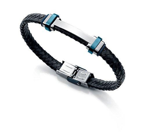 Imagen de pulsera viceroy fashion 6336p09013 acero, ip azul y piel azul