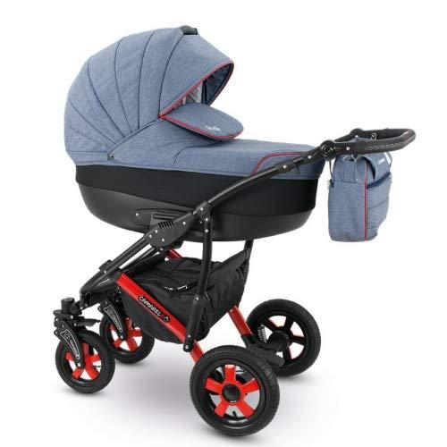 Camarelo SEVILLA 3in1 mit Babyschale, Kombikinderwagen - Kinderwagen - Buggy Farbe XSE-6 grau melange/schwarz
