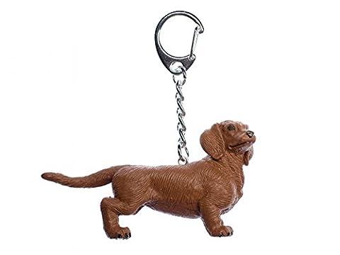 Dackel Schlüsselanhänger Miniblings Anhänger Hund Dachshund Gummi 75mm braun