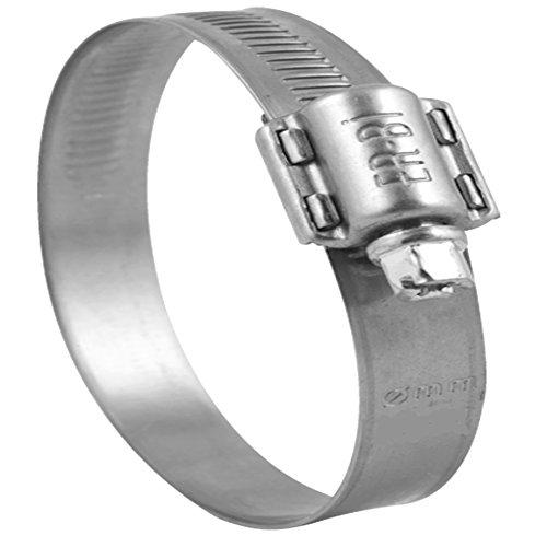 Lot de 10 colliers de serrage en acier inoxydable Ø 20-32 mm W4 V2 A bande passante 13 mm, DIN 3017, qualité industrielle, avec filetage escargot Il-Bi®