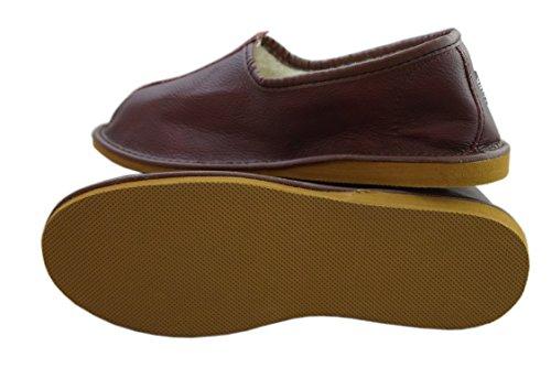 Natleat Slippers ,  Damen Unisex Erwachsene Herren Stiefel burgunderfarben