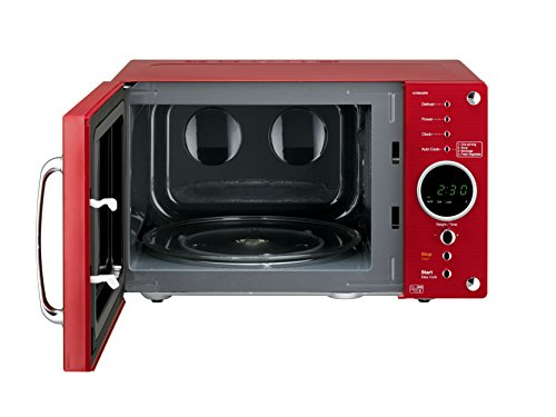 Daewoo Retro Microwave Oven, 23 Litre, Red