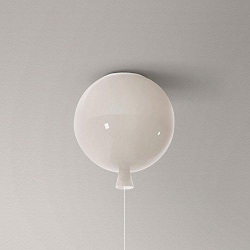 Lampada da soffitto a palloncino a led lampadario creativo moderno a balcone lampade da tavolo e lampade per bambini lampada da soffitto in vetro singolo testa ( colore : white-s )