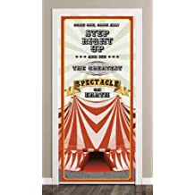 Placa de PVC para decoración de Puertas de Carpa de Circo, 66 x 152 cm