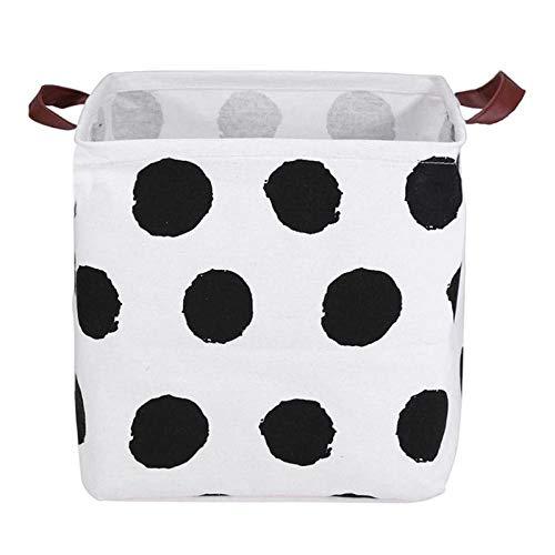 CYACC Cyaccfoldable Wäschekorb Leinwand Schmutzige Kleidung Lagerung Barrel Kids Toy Organizer Halter Kleinigkeiten Kleidung Aufbewahrungstasche 33X33Cm @ N_33X33X30Cm, N 33X33X30Cm,N 33x33x30cm (Reisen Dvd-inhaber)