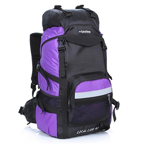 Wmshpeds Professional pacchetto esterno 45L viaggi borsa a tracolla in nylon impermeabile di grande capienza zaino alpinismo G