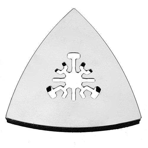 1 almohadilla de lijado triangular de 80 mm, multiherramienta oscilante, herramientas giratorias de acero inoxidable