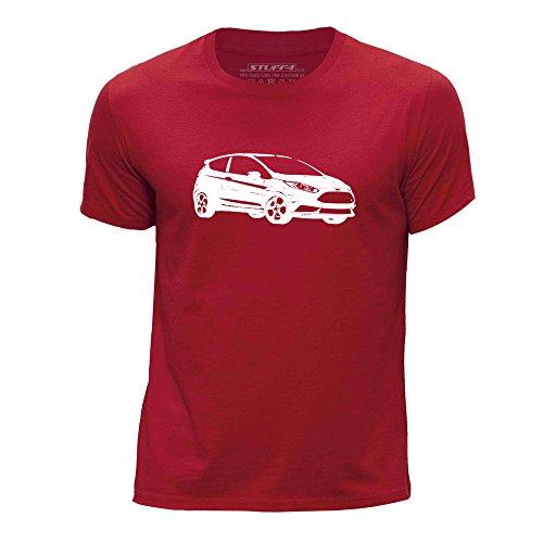 STUFF4 Jungen/Alter 5-6 (110-116cm)/Rot/Rundhals T-Shirt/Schablone Auto-Kunst / 13 Fiesta ST (Ford-kinder-t-shirt)