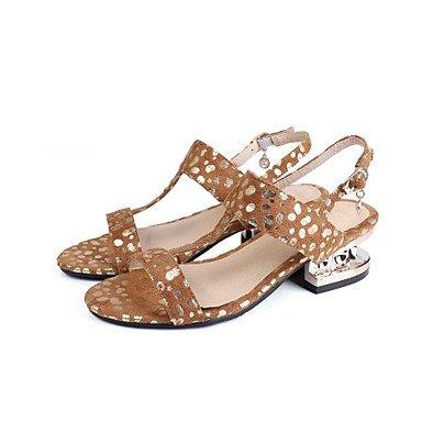 Fschooly Femmes Chaussures Nubuck Cuir Printemps Été Confort Cheville Sangle Cristal Talon Sandales Open Toe Cristal Pour Informel Party & Amp; Sera Blanc Jaune
