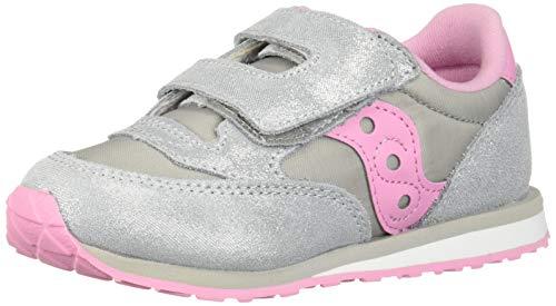 2c3ef705 Saucony Girls' Baby Jazz HL Sneaker, Silver/Pink, 115 Medium US Little Kid