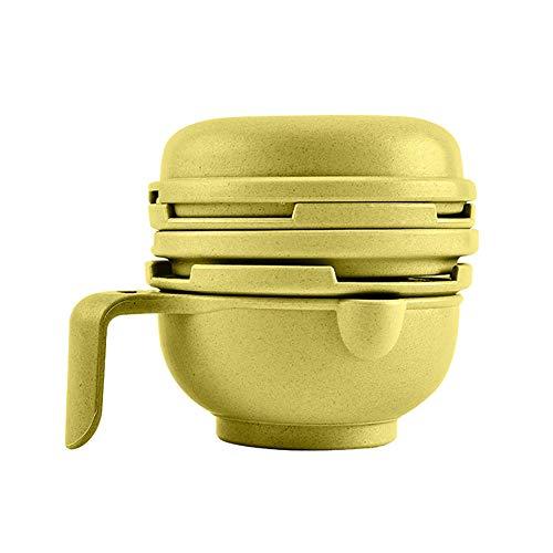 HshDUti Portable Food Masher Baby Feeder Smasher Supplement Bowl Gemüse Obstschleifer Green (Schleifer Für Weed Green)