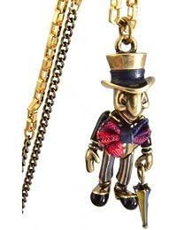 Disney Couture Classic de metal mezclado articulado Pepito Grillo collar