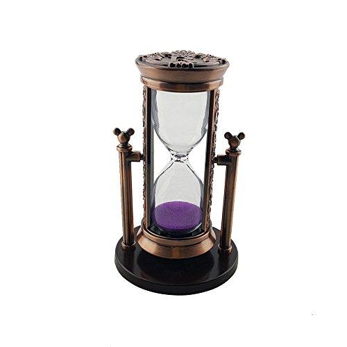 Fengfa, 3 minuti decorazione clessidra sabbia orario classico, sabbia timer di cristallo con sands per office desk coffee table book shelf gabinetto di natale regalo di compleanno (rks-bg001bd)