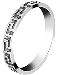 La Vogue Bague En Argent 925 Punk Vintage Femme Homme Alliance Anneau Bague Ring