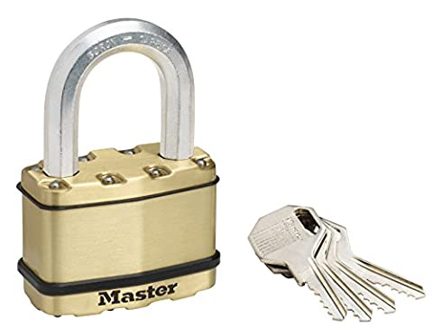 Master Lock 64mm brass finish zinc outdoor padlock with anti-rust outdoor protection long shackle