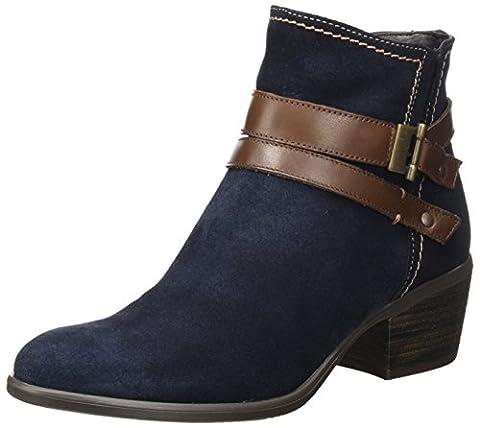 Tamaris Damen 25010 Stiefel, Blau (Navy/Espresso), 37